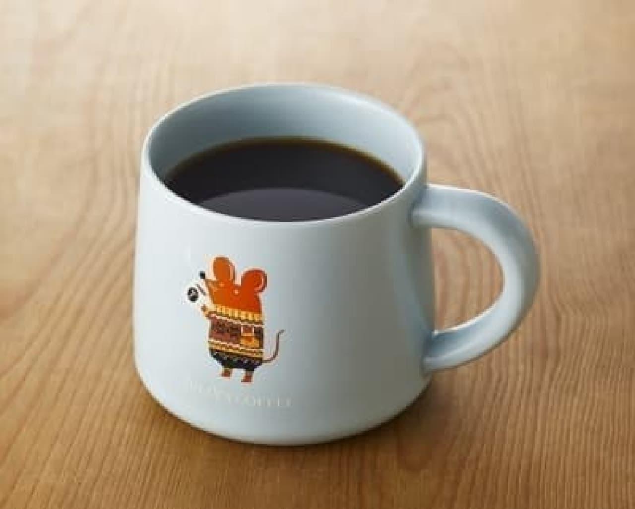 タリーズコーヒー「干支マグカップ(ネズミとコーヒー)」
