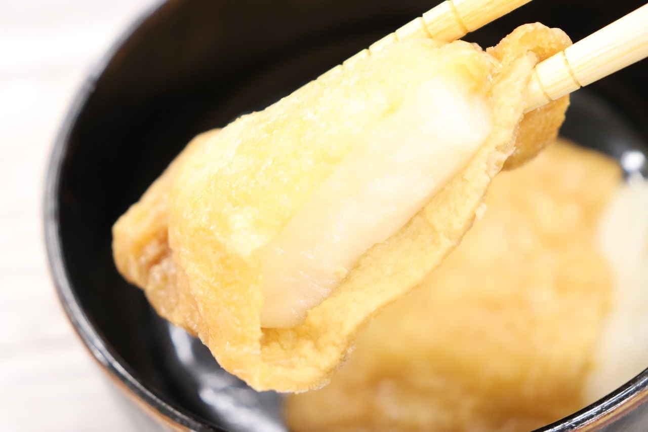味付け皮で作るいなり餅
