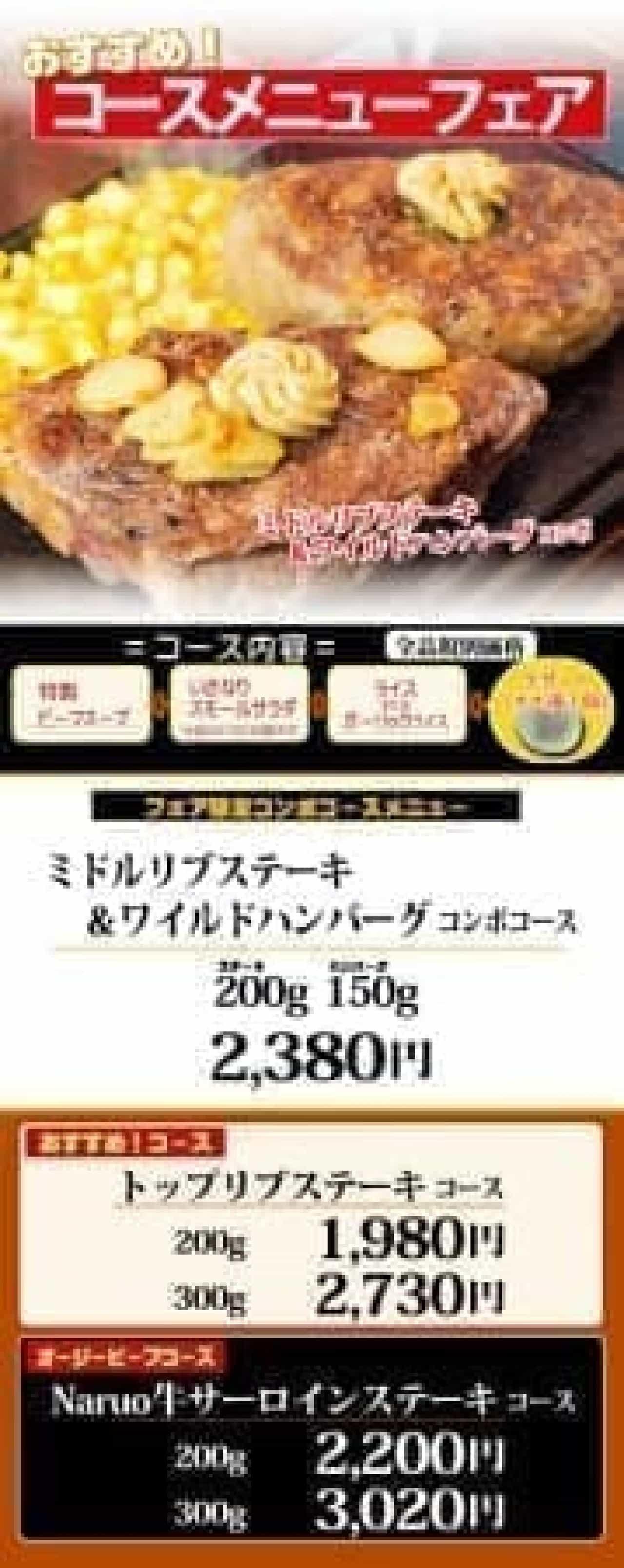 いきなりステーキコース