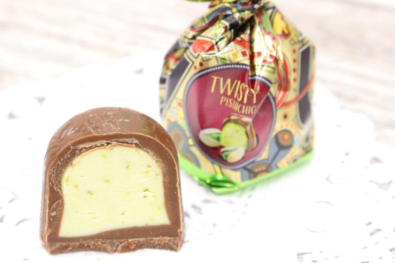 ゴプラーナのプラリネチョコレートピスタチオ