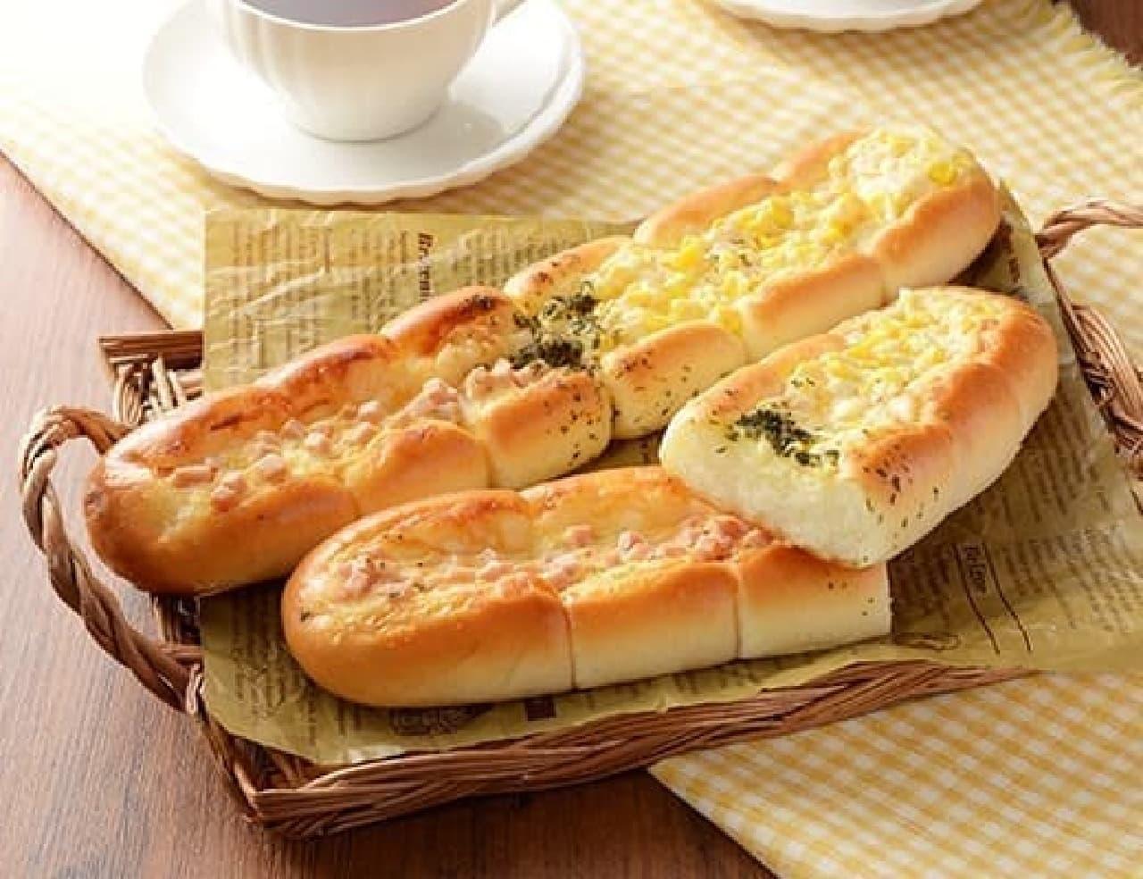 ローソン「ちぎれるスティックパン(ハム&コーン)」