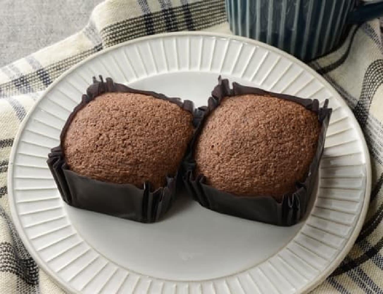 ローソン「NL プロテイン入りチョコ蒸しケーキ 2個入」