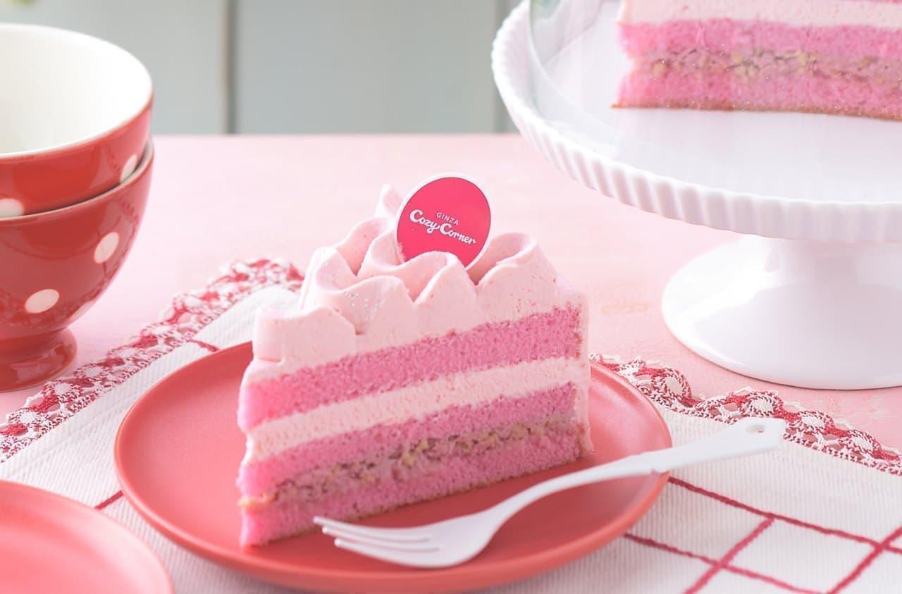 銀座コージーコーナー「さくさく食感の苺チョコケーキ」