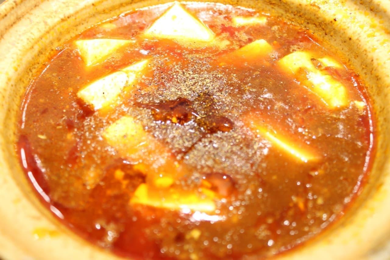 やよい軒の「四川麻婆豆腐とから揚げの定食」