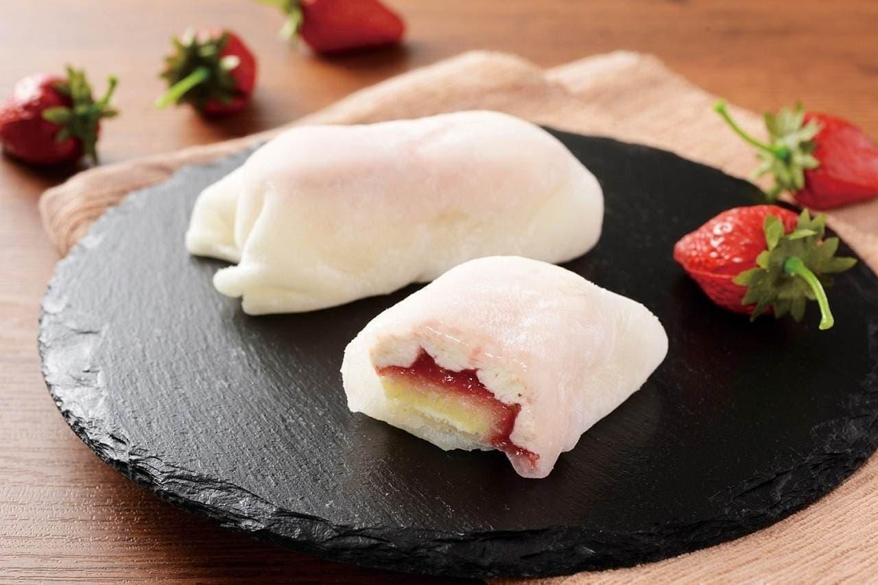 ローソン「モチクルン-おもちでくるん苺レアチーズ-」