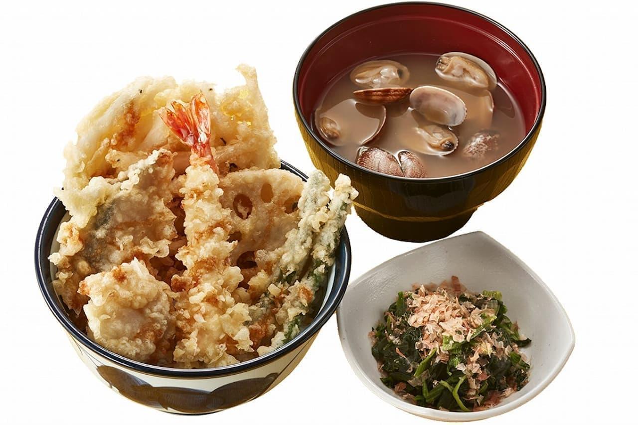 天丼てんや「西京風銀ダラと白魚天丼」