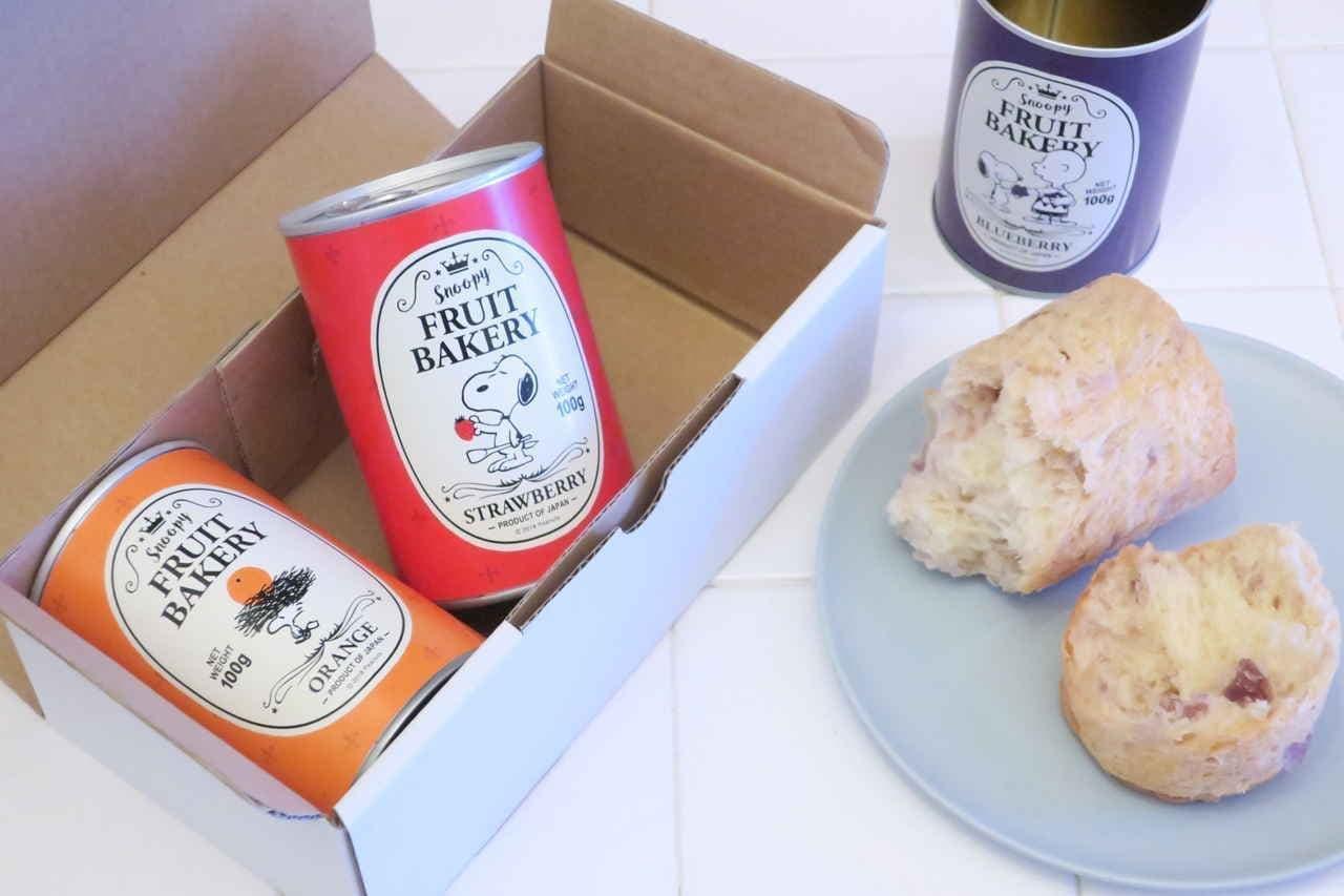スヌーピーのパンの缶詰