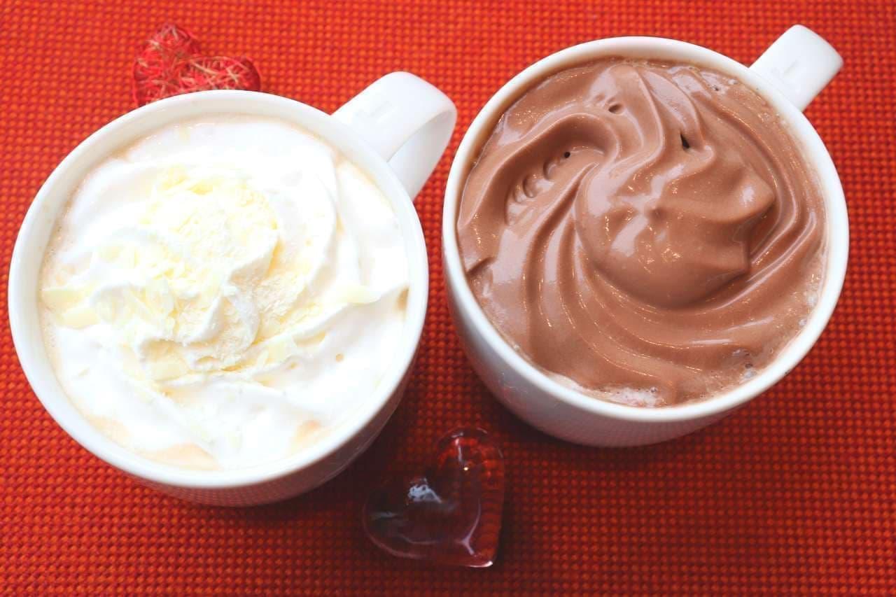 スターバックス「ホワイト チョコレート with ラテ」と「チョコレートムース with ドリップコーヒー」