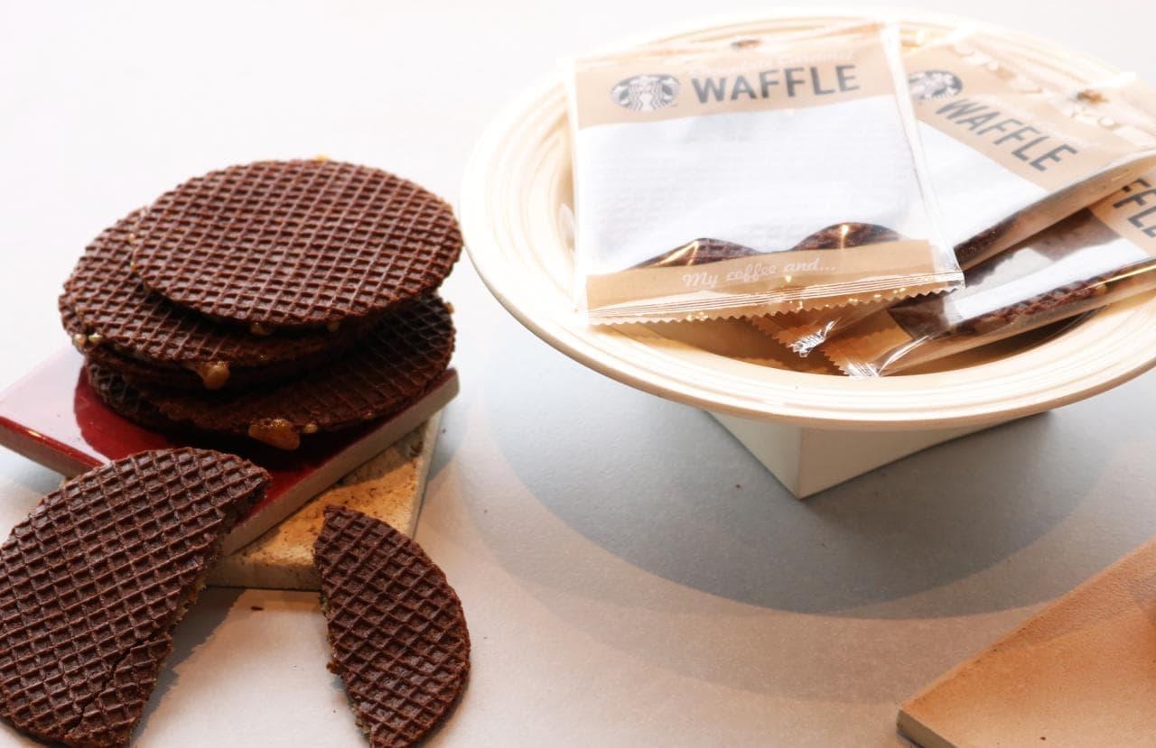 スタバ「チョコレートキャラメルワッフル」