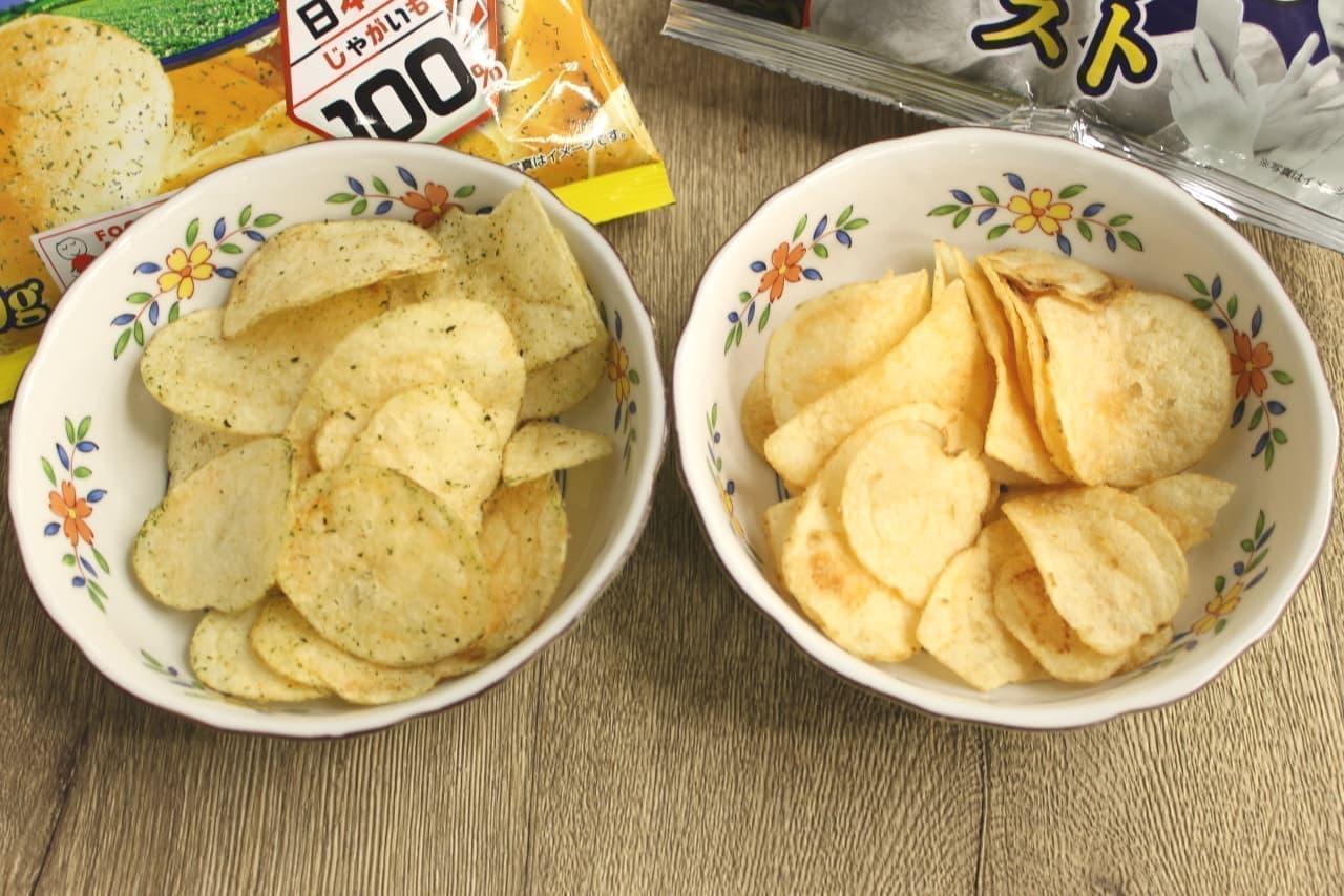 ローソン「海苔がないのに海苔の味がする のり塩味ポテトチップス」