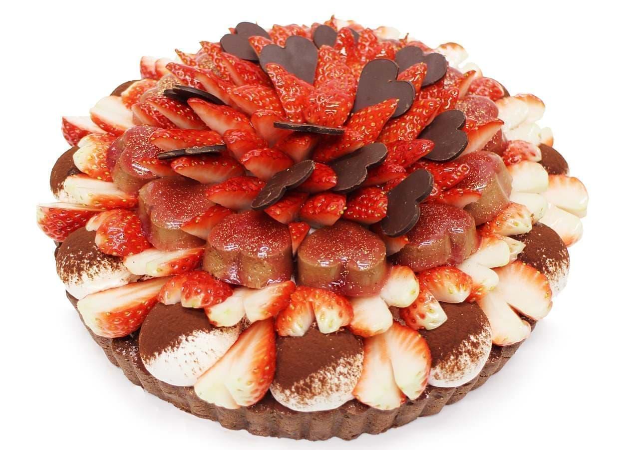 カフェコムサのバレンタイン限定ケーキ
