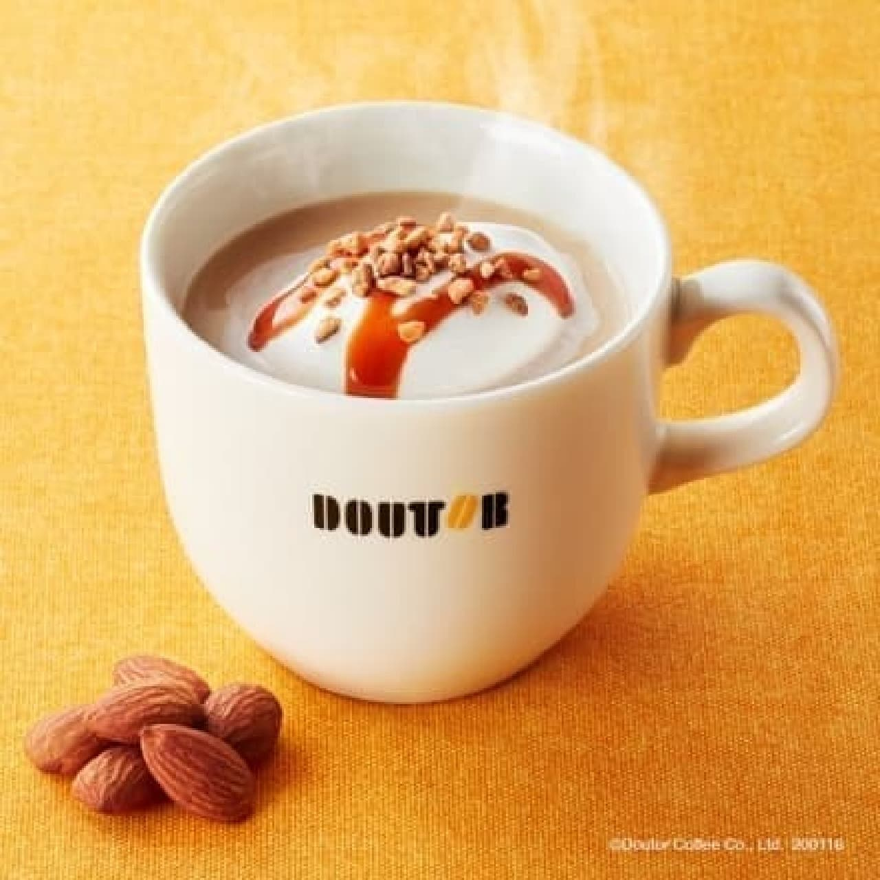 ドトールコーヒー「キャラメルナッツラテ」
