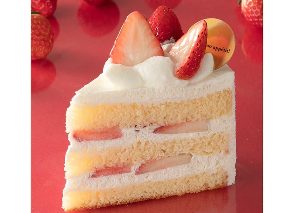 シャトレーゼ「さがほのか苺使用プレミアム純生クリームショートケーキ」