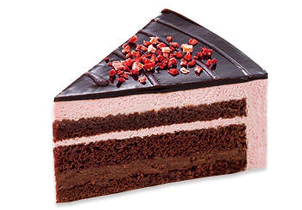 不二家「苺のザクザクチョコケーキ」