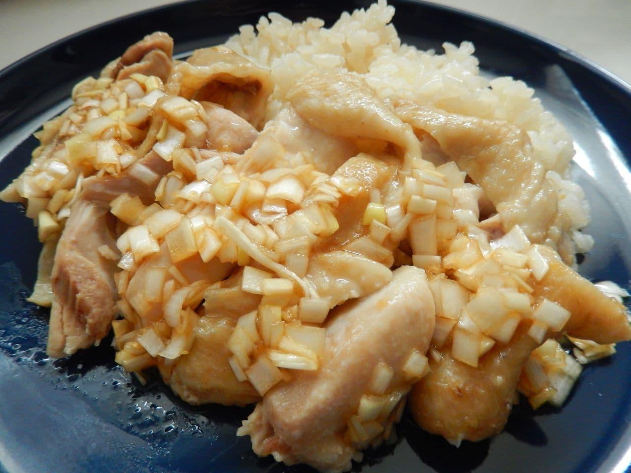 炊飯器で作るカオマンガイ