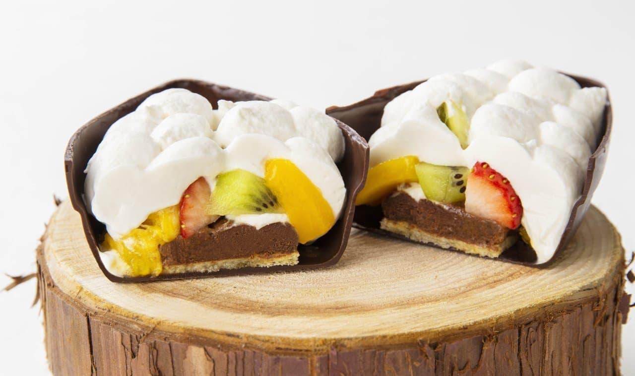 カカオポッド型ケーキ「キットカット ショコラトリー カカオフルーツ デセール」