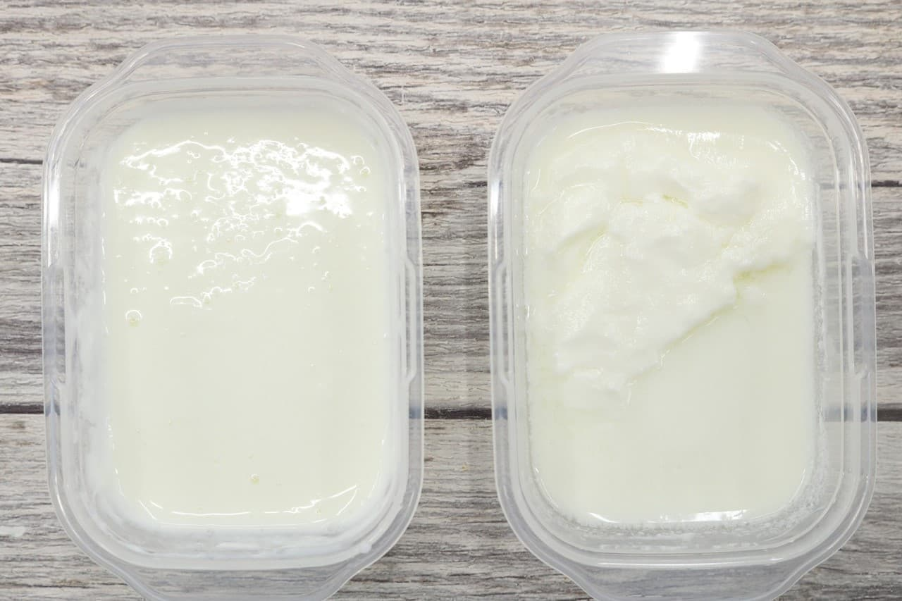 ヨーグルトの冷凍保存