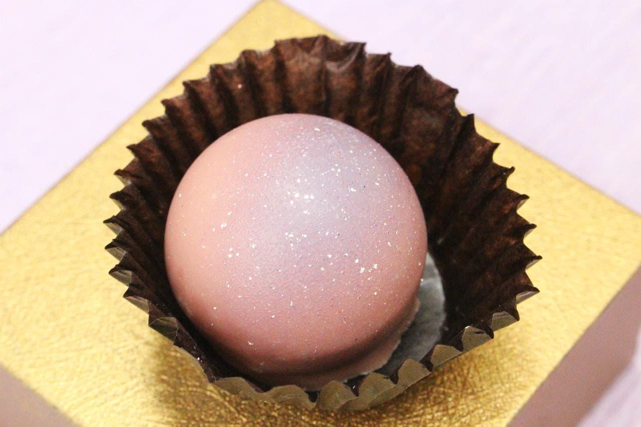 パティスリー モンシェールの「獺祭ボンボンショコラ 味わいと薫りの祝宴~ルビーとショコラ~」