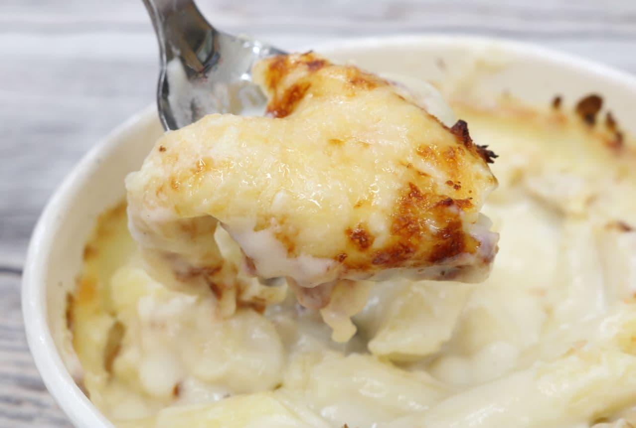 コンビニ3社の冷凍グラタンを食べ比べ