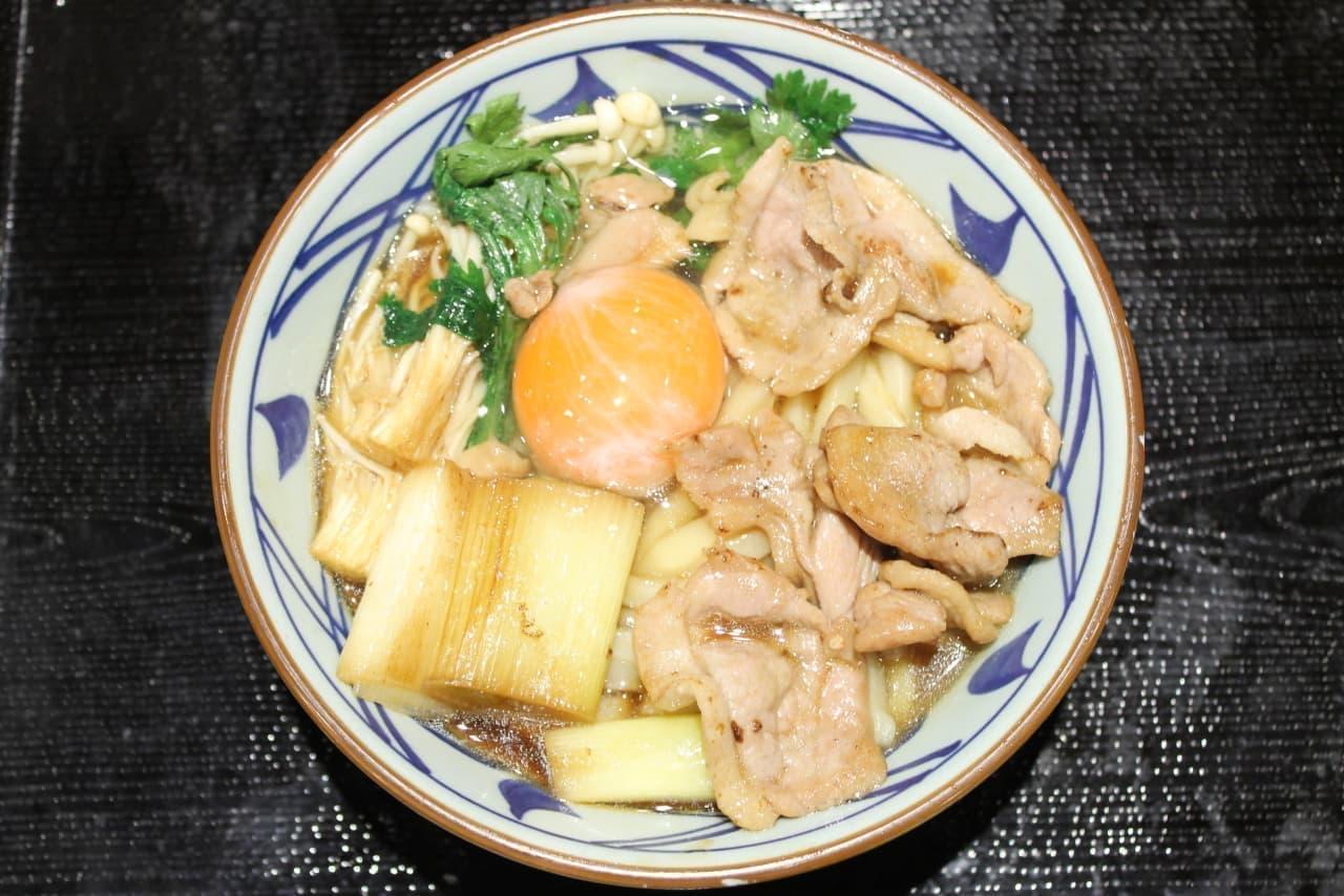 丸亀製麺の期間限定「鴨すき焼きうどん」