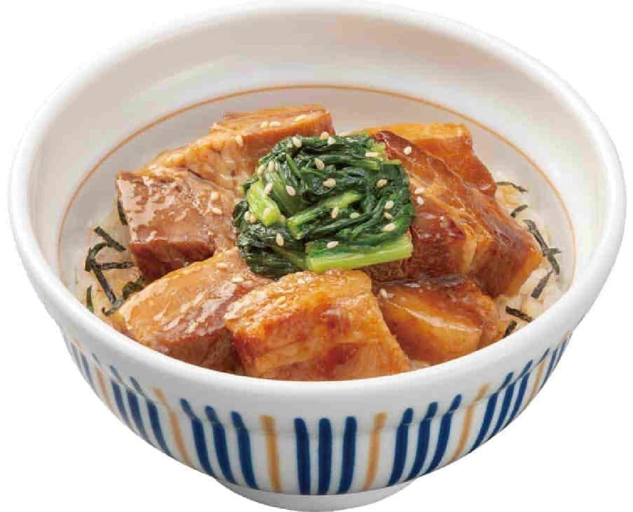 なか卯の豚角煮丼
