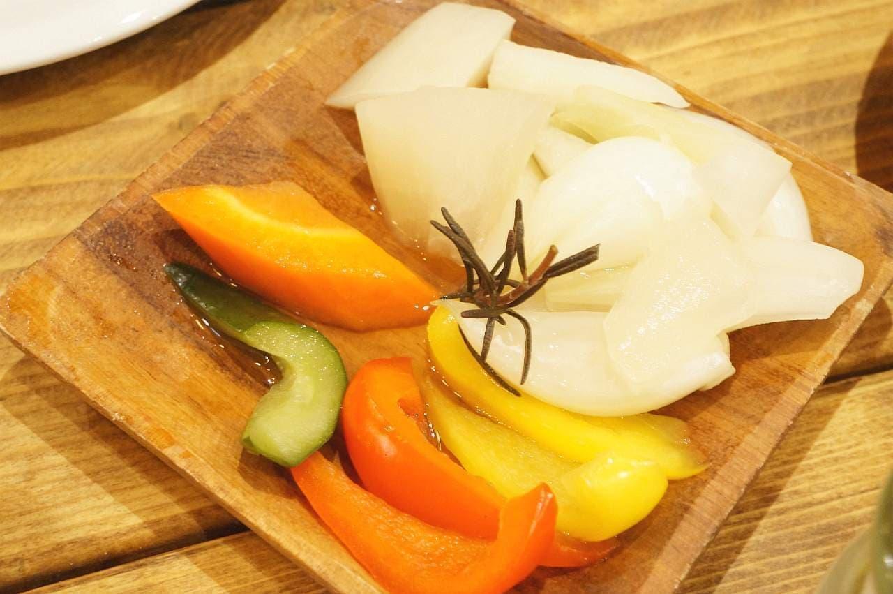 CCC チーズチーズカフェのピクルス