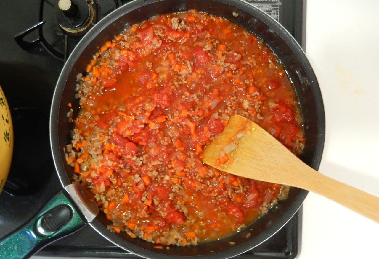 ミートソースの簡単レシピと冷凍保存方法