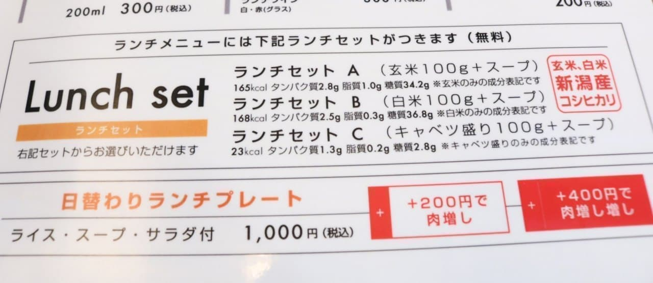 「筋肉食堂 渋谷店」のメニュー