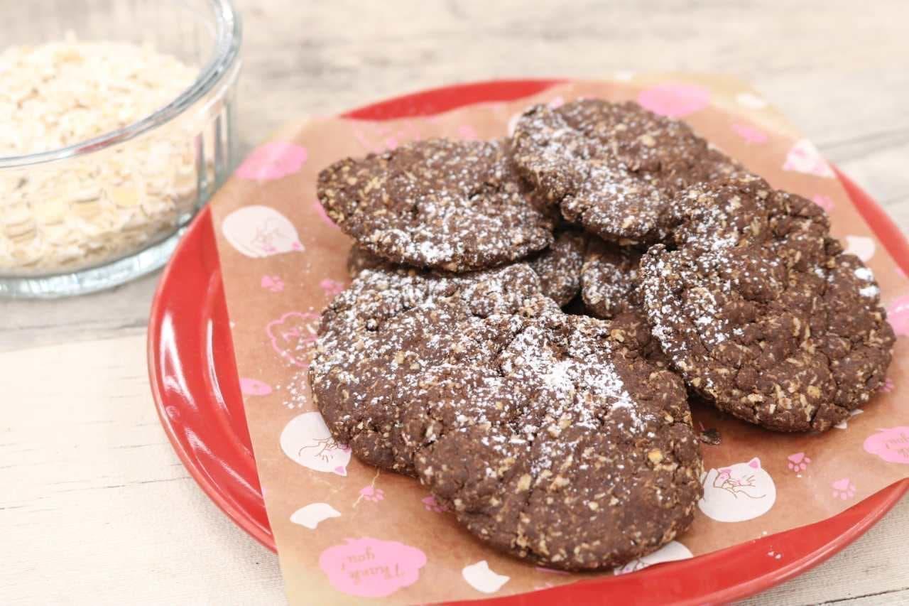 レシピ「オートミールクッキー」