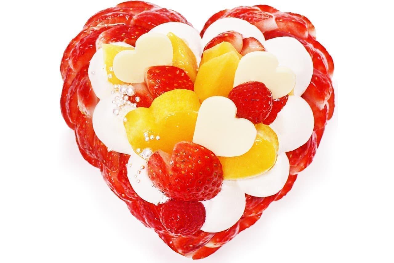 カフェコムサ「恋みのり」いちごとマンゴーのケーキ