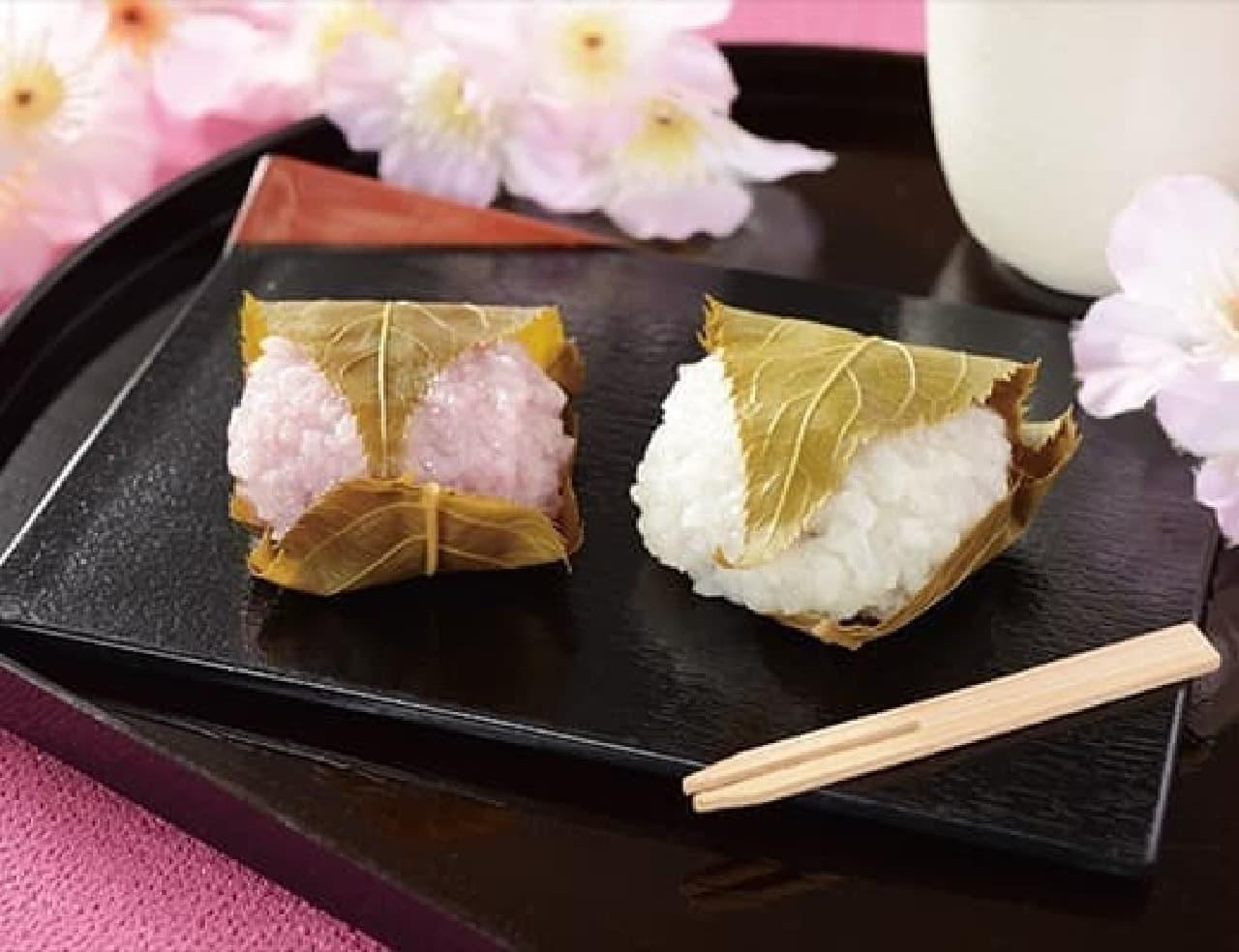ローソンの桜餅(こしあん)2個