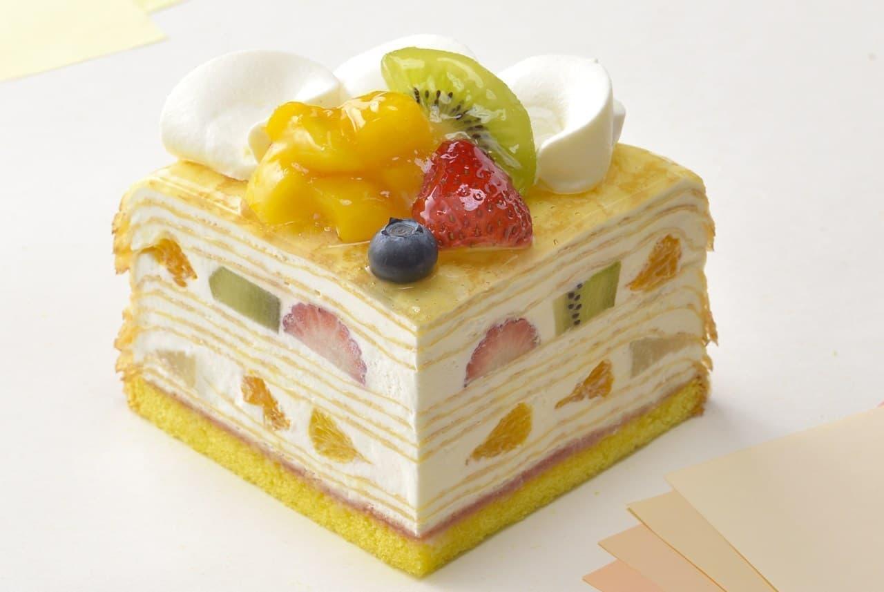 ・銀座コージーコーナー「7種フルーツのミルクレープ」