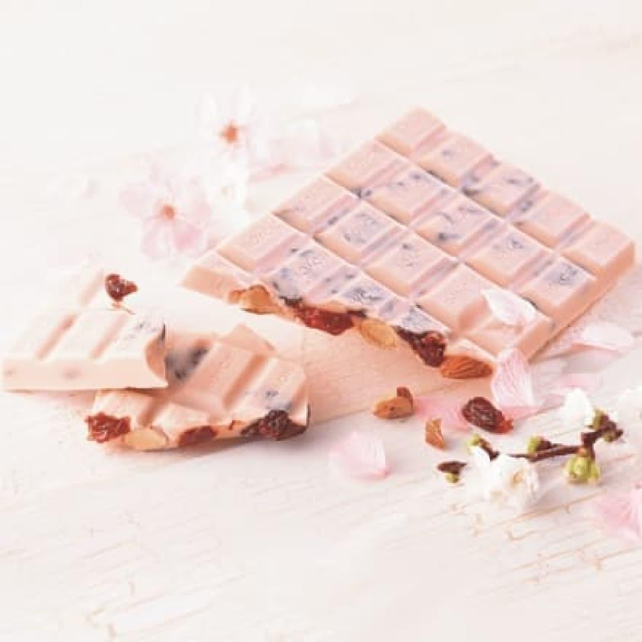 ロイズの板チョコレート[さくらベリー(チェリー&アーモンド)]