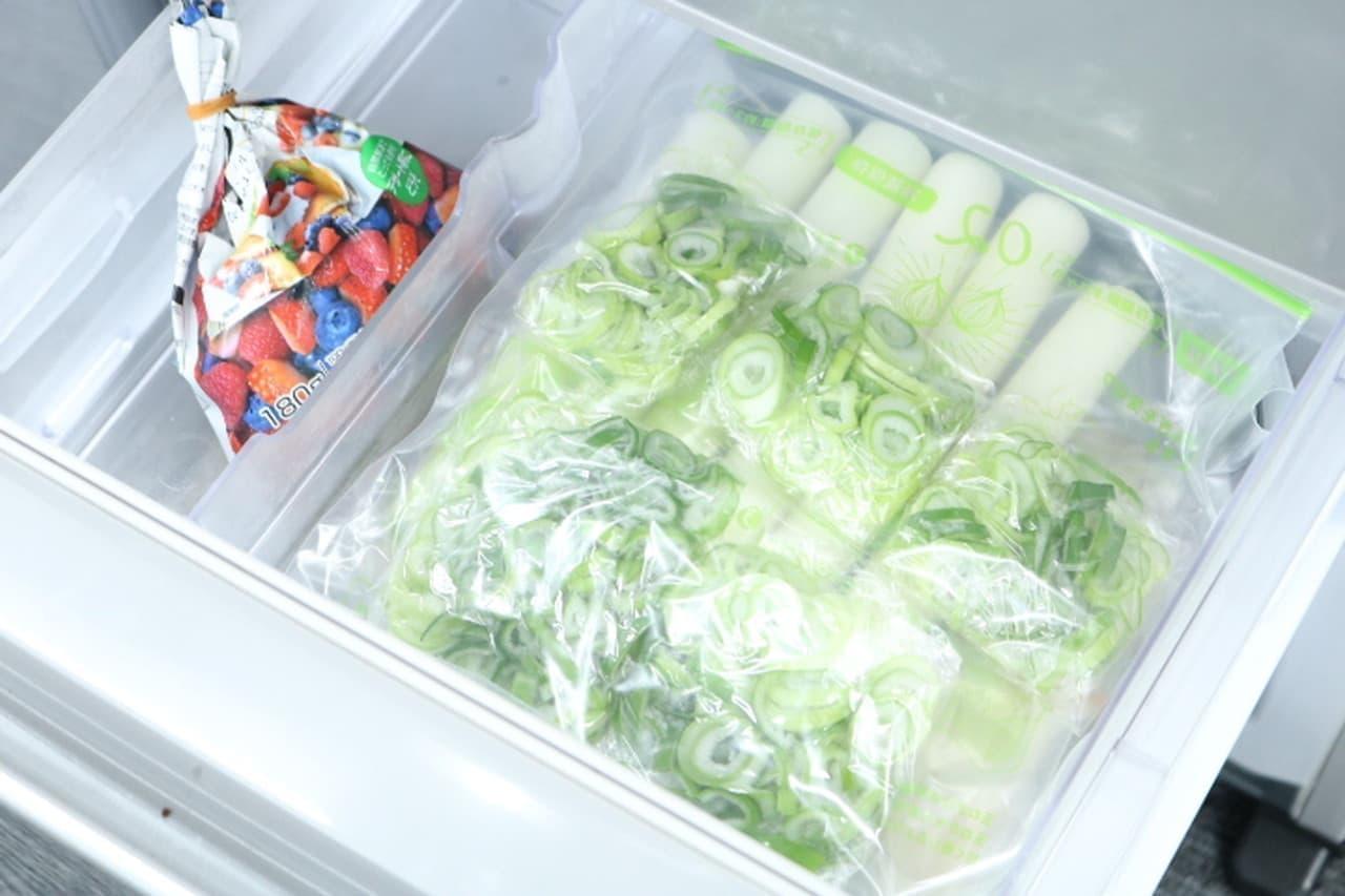 ステップ7保存袋に入れて冷凍庫へ