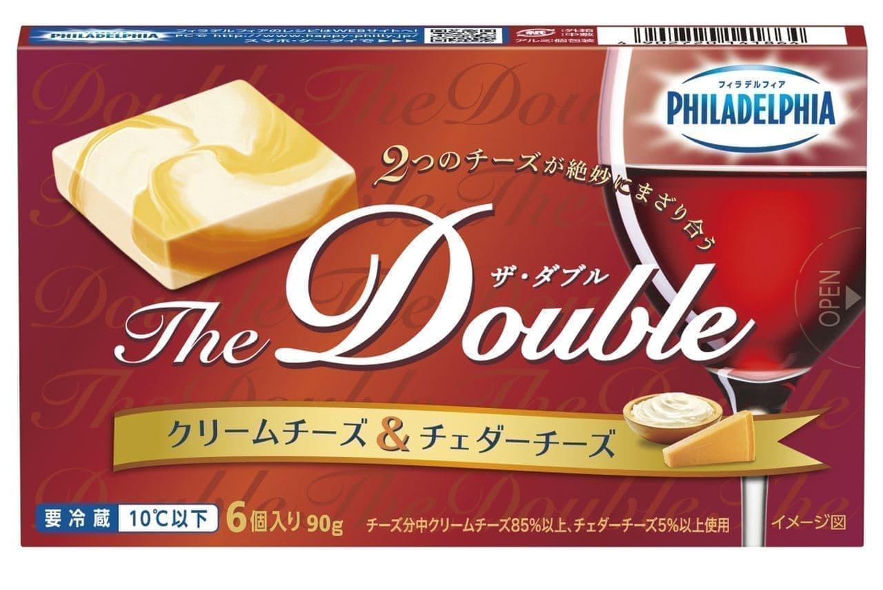 森永乳業「フィラデルフィア The Double 6P(クリームチーズ&チェダーチーズ)」
