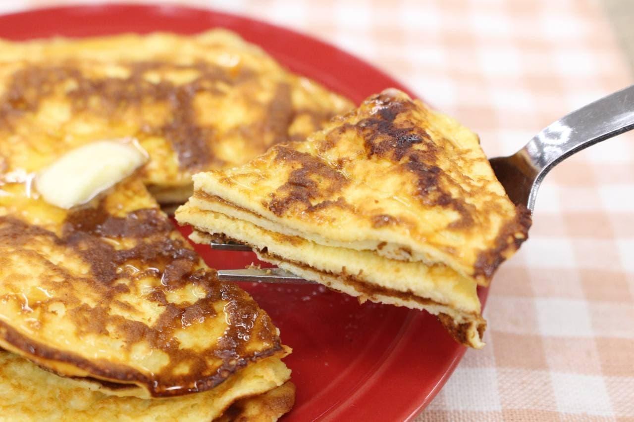 アレンジレシピ「プロテインパンケーキ」