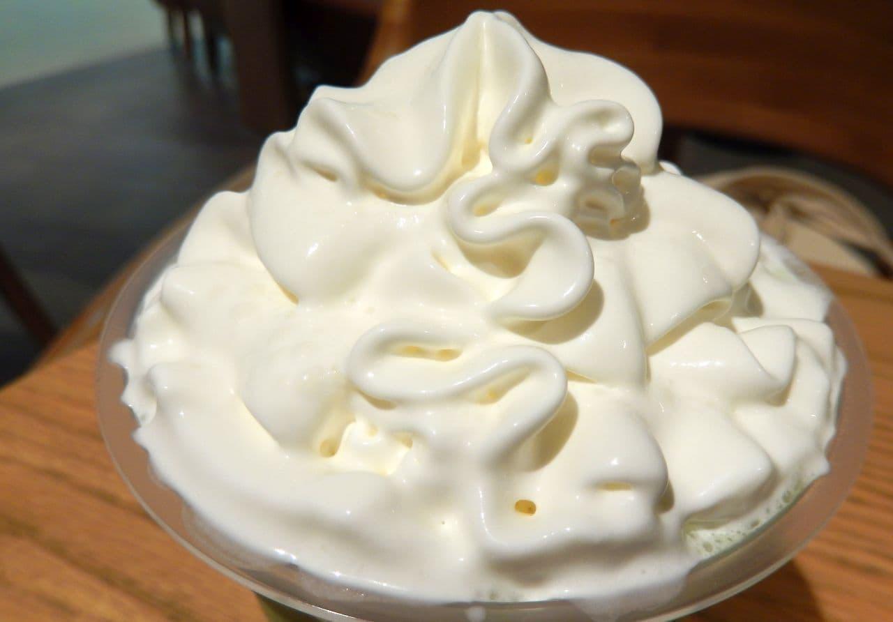 スターバックス「抹茶 クリーム フラペチーノ」