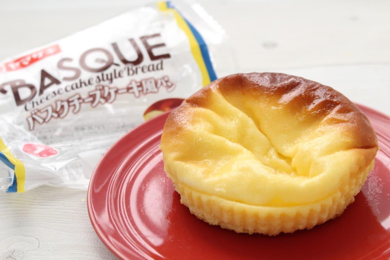 ヤマザキバスクチーズケーキ風パン