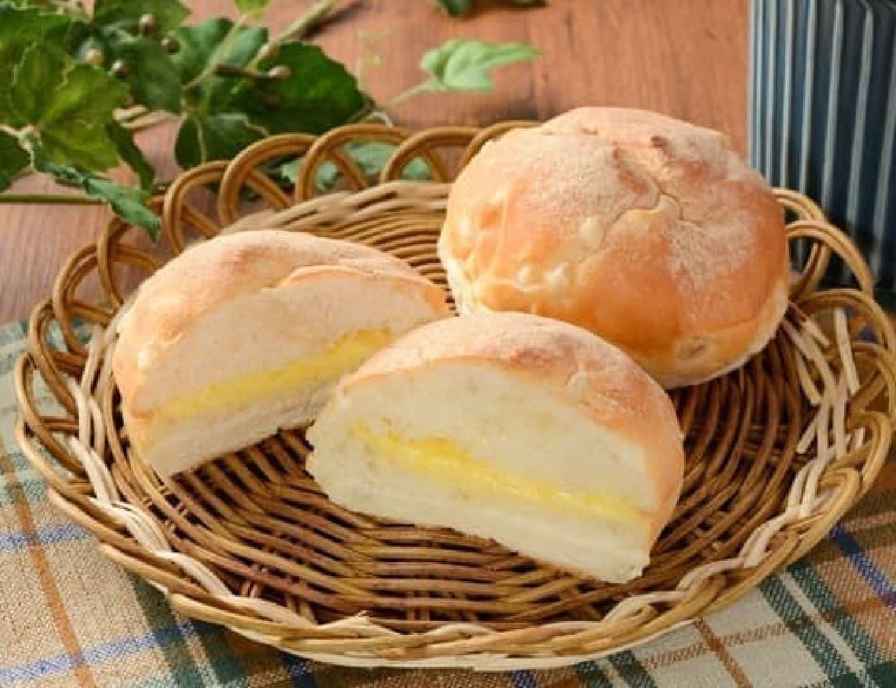 ローソン「マチノパン もち麦モッチパン バター 2個入」