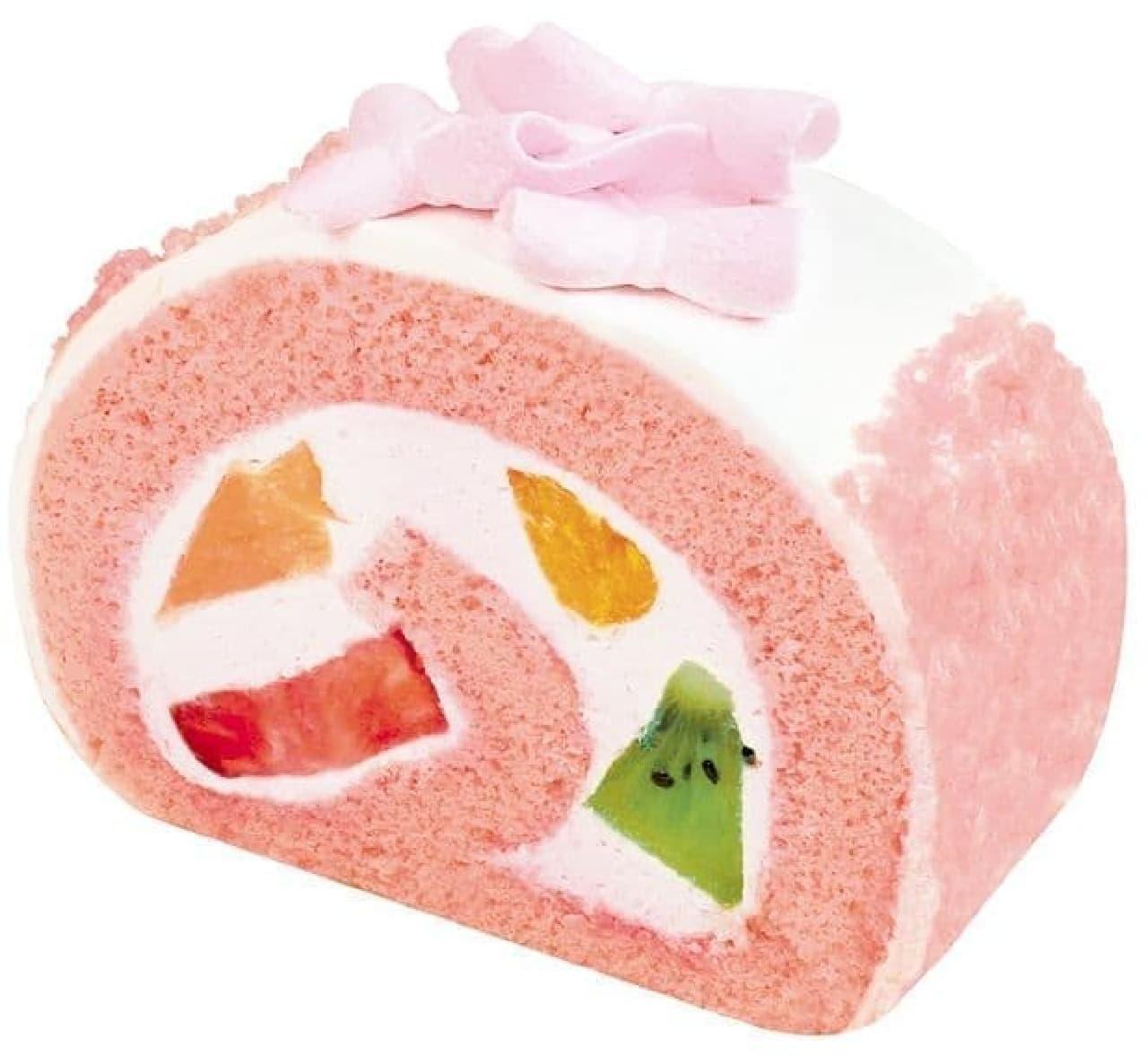 不二家洋菓子店「桜香るにぎやかフルーツロール」