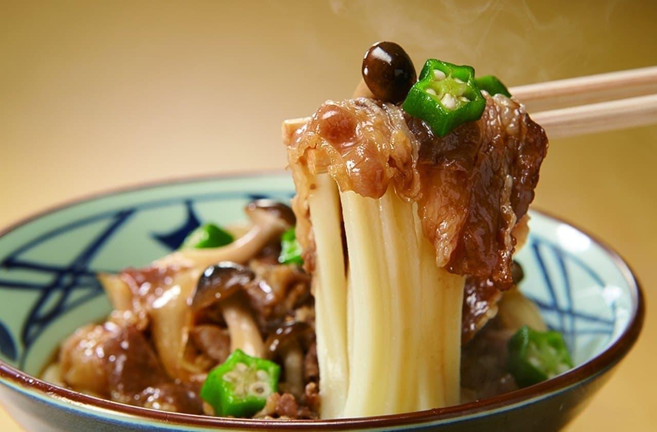 丸亀製麺、春の新作「牛肉盛りうどん」