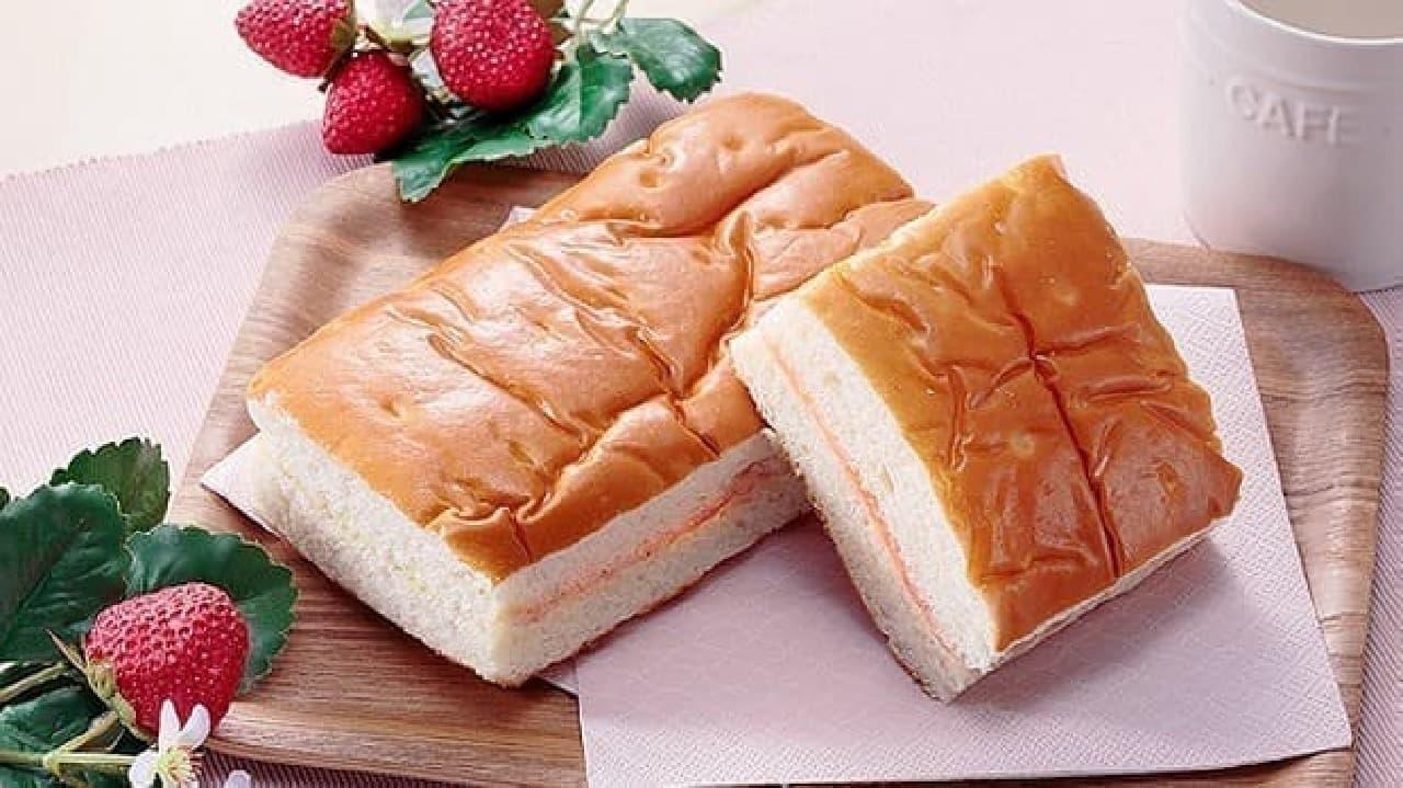 ローソンストア100の「VL牛乳入りパン 苺ジャム&マーガリン」