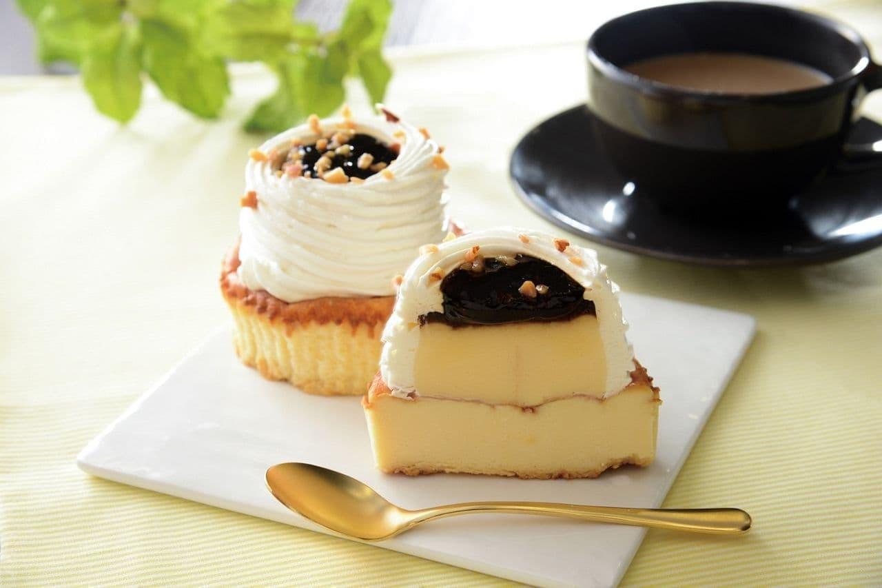 ローソン「マウントプリンバスチー -バスク風チーズケーキ-」