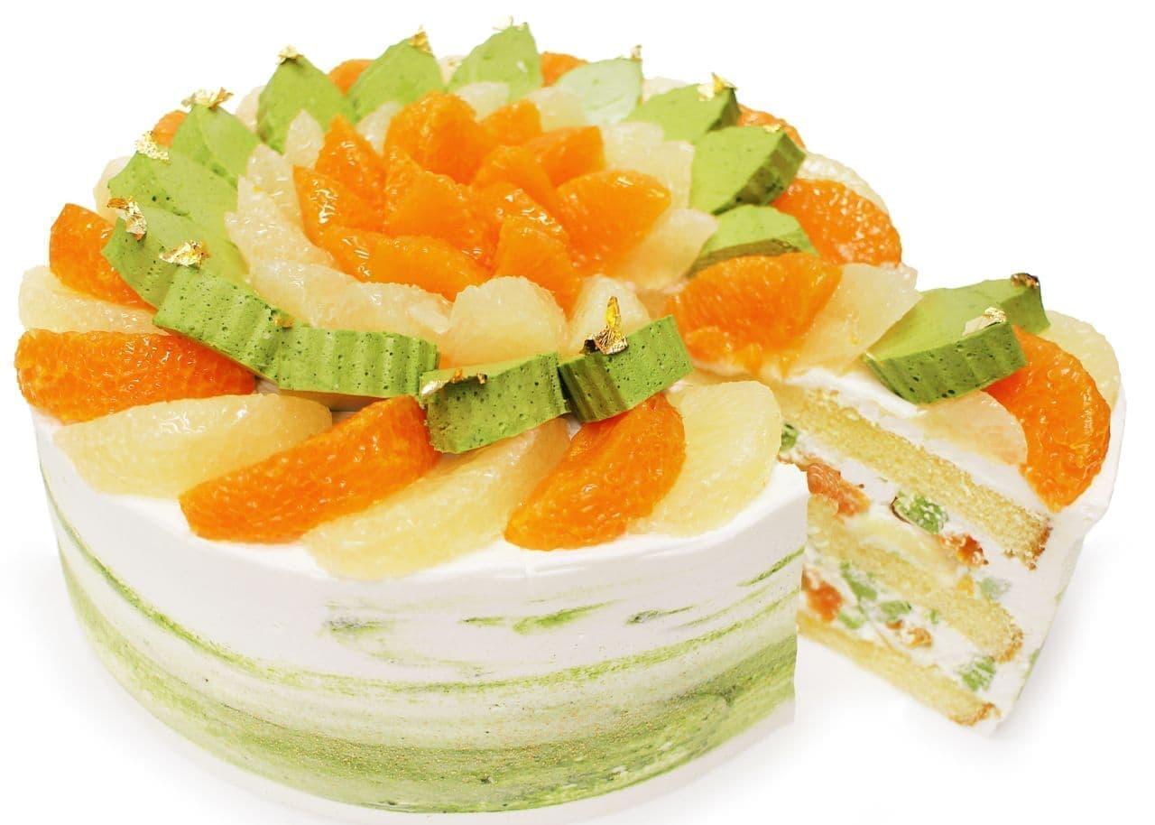 シャトレーゼ「愛媛県 宇和島 山内農園産「宇和ゴールド」と「せとか」のショートケーキ」
