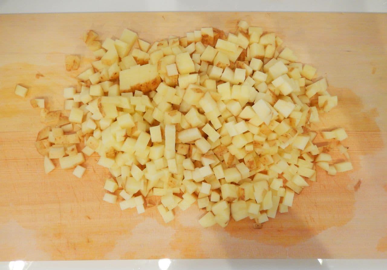 「新じゃがハッシュドポテト」のレシピ