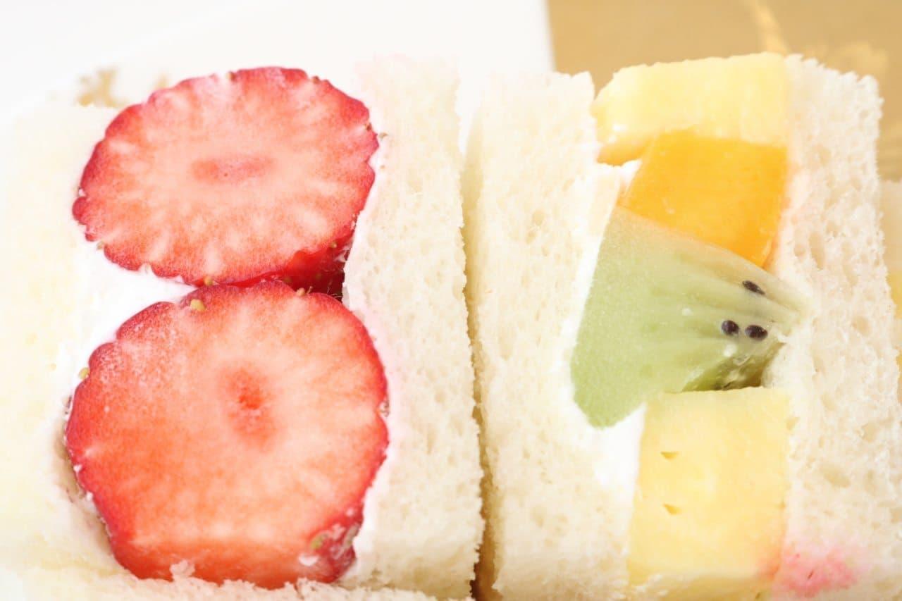 渋谷西村 フルーツパーラー「特選 季節のフルーツサンド」