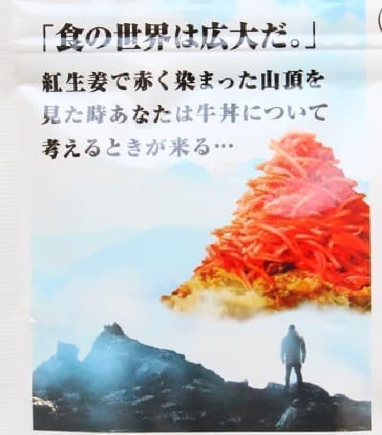 永谷園「牛丼に、紅生姜を<どっさり>のせてみた。」
