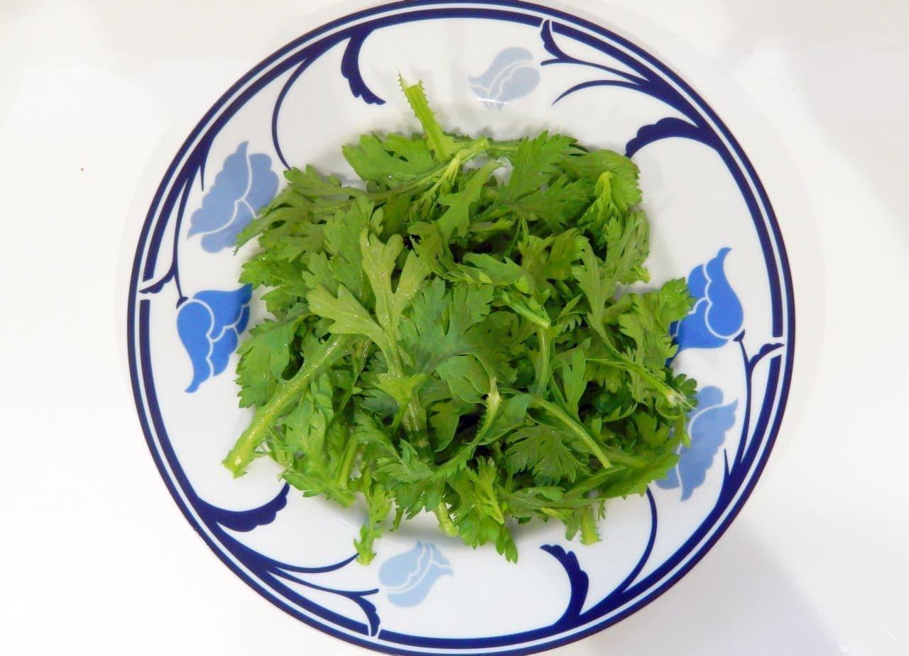 生春菊とツナマヨのサラダ