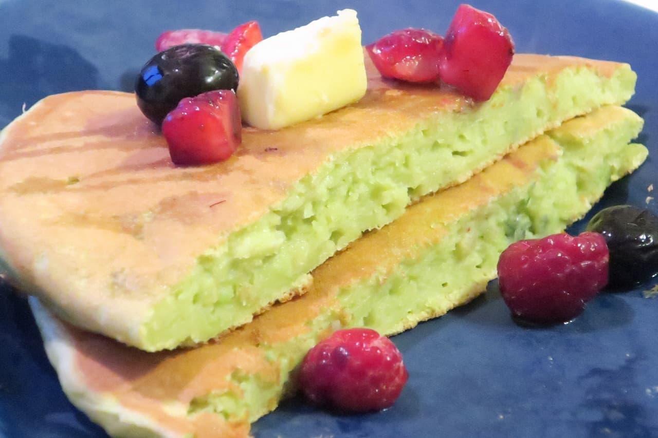 レシピ「アボカドホットケーキ」