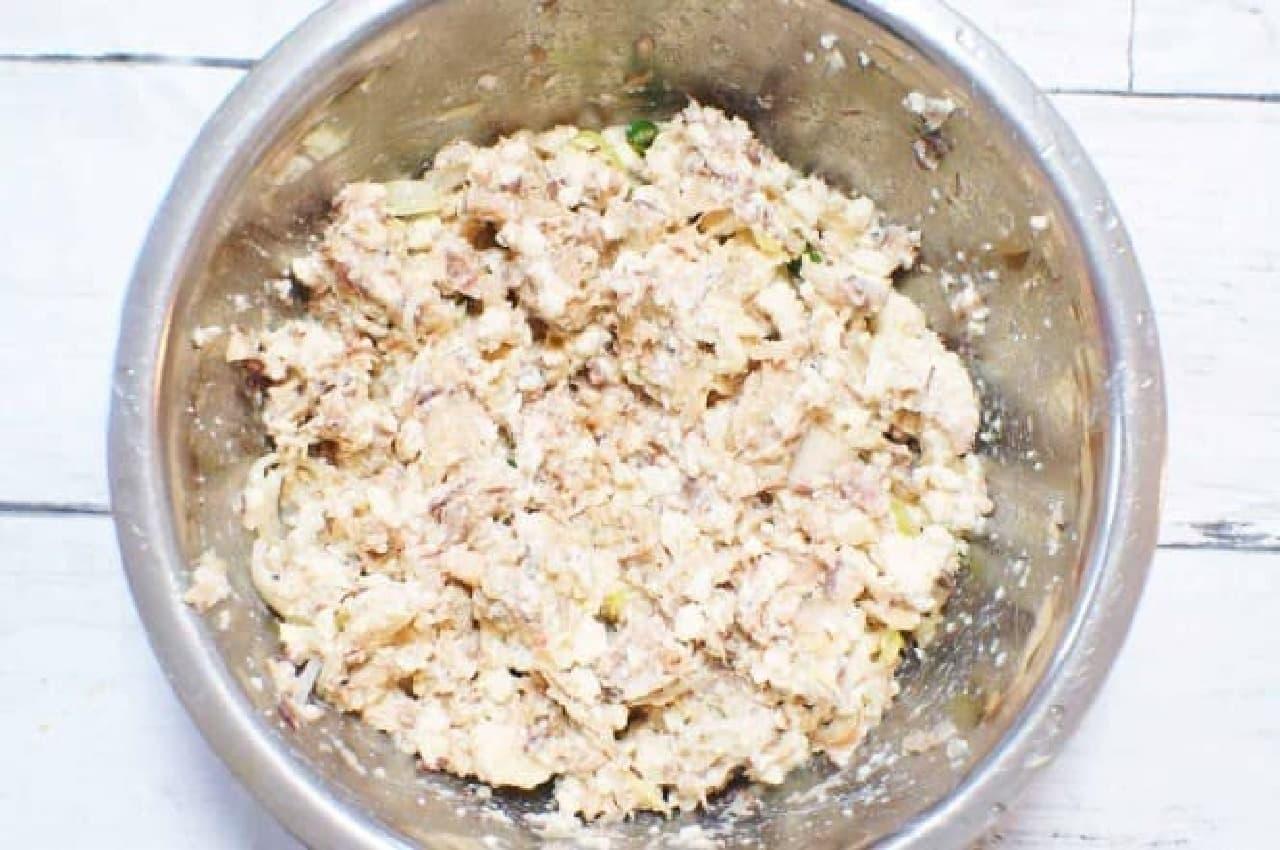 サバと豆腐のハンバーグのタネ